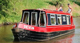 Narrow boat Devon