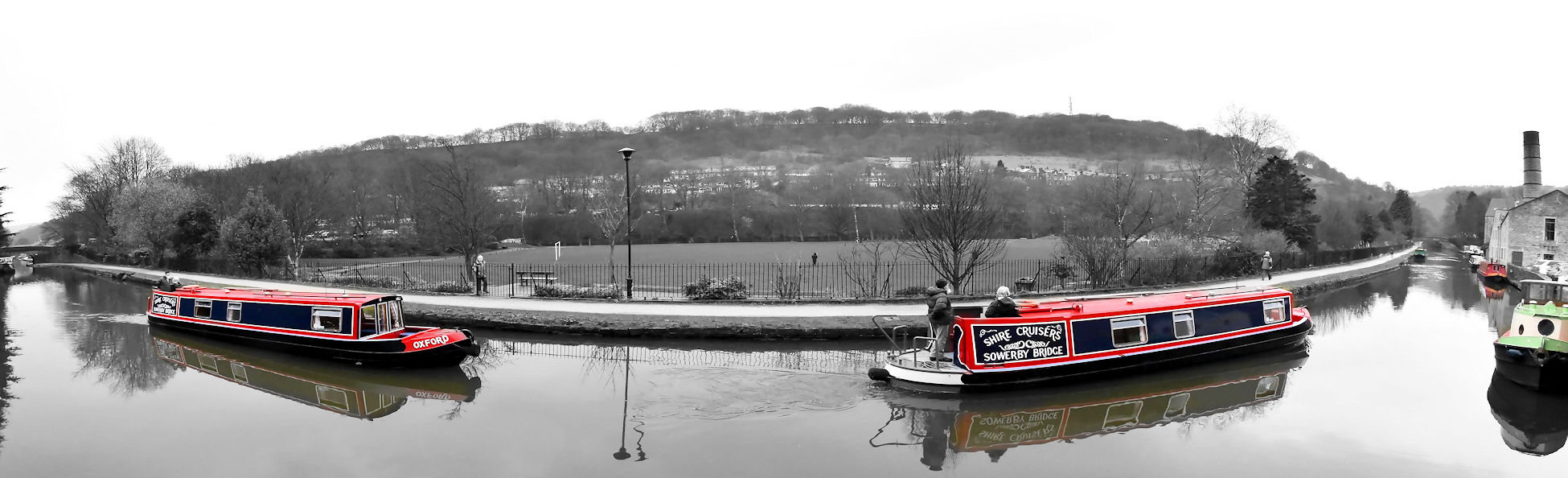 Moorings on the Marton Pool, Leeds & Liverpool Canal