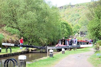 Hebden Bridge on the Rochdale Canal, South Pennine Ring